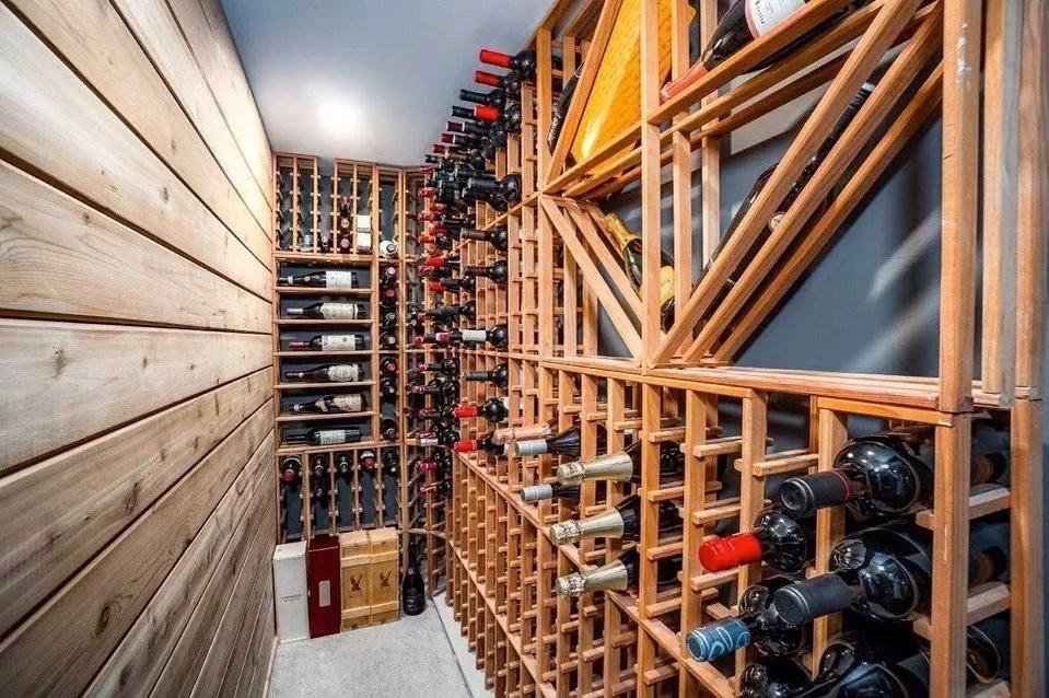 Wine storage cellar. Photo by Instagram user @erinpatterson.realtor