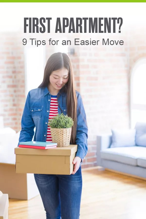 Pinterest Graphic: First Apartment? 9 Tips for an Easier Move
