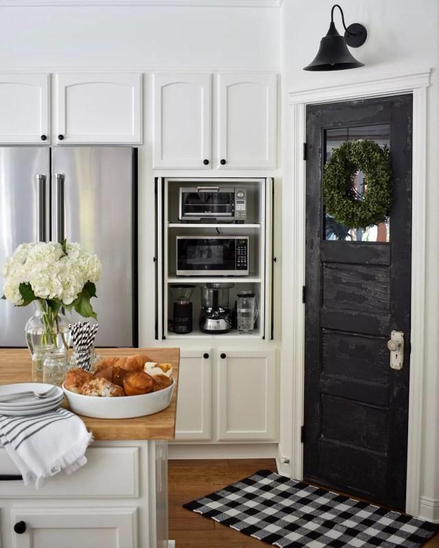 Sleek Appliance Garage: 13 Small Kitchen Design Ideas & Organization Tips