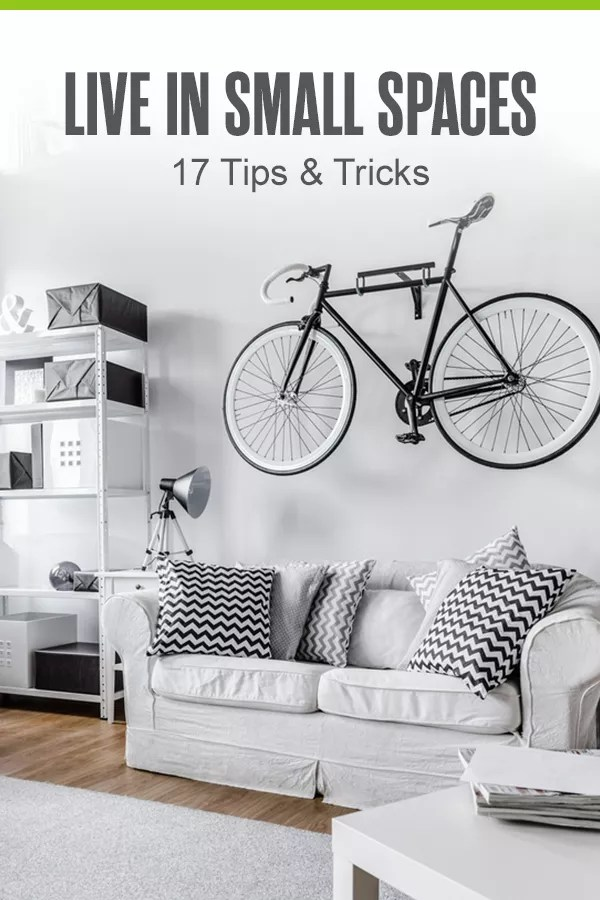 Pinterest Graphic: Live in Small Space: 17 Tips & Tricks
