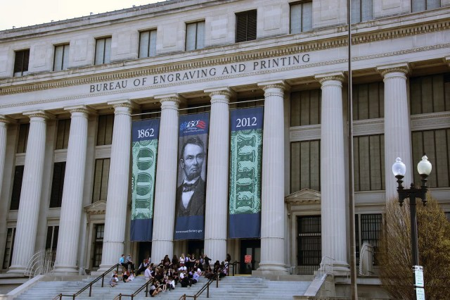 Bureau of Engraving and Printing in Washington, D.C.