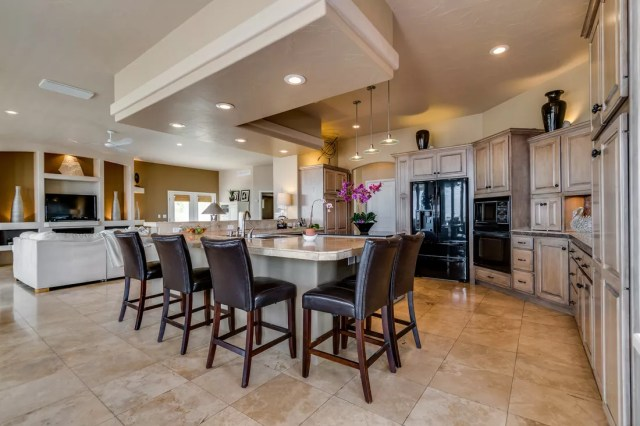 Professional real estate photo of kitchen taken by SoCo Home Photography