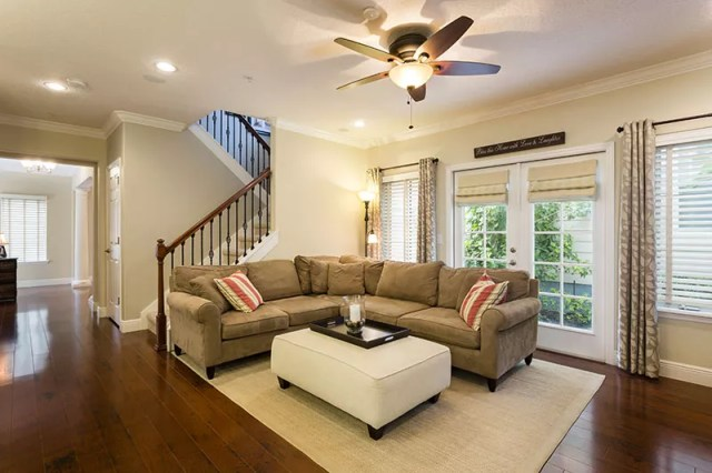 Professional real estate photo of living room taken by Harry Lim Photography