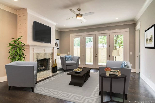Living room virtually staged by Krisztina Bell, Virtually Staging Properties