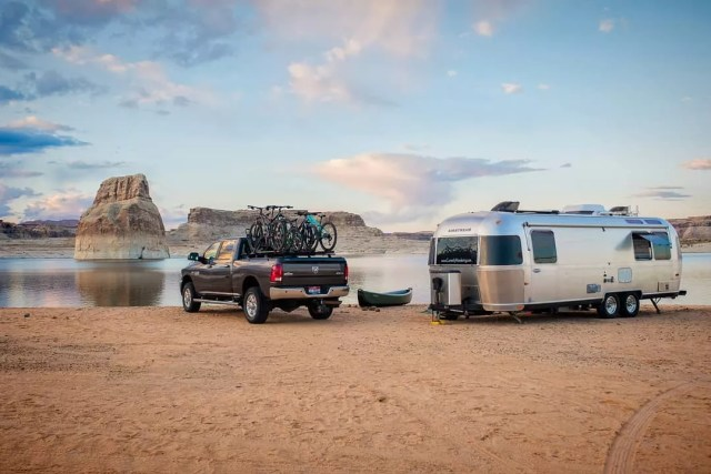Truck with Airstream. Photo by Instagram user @currentlywandering