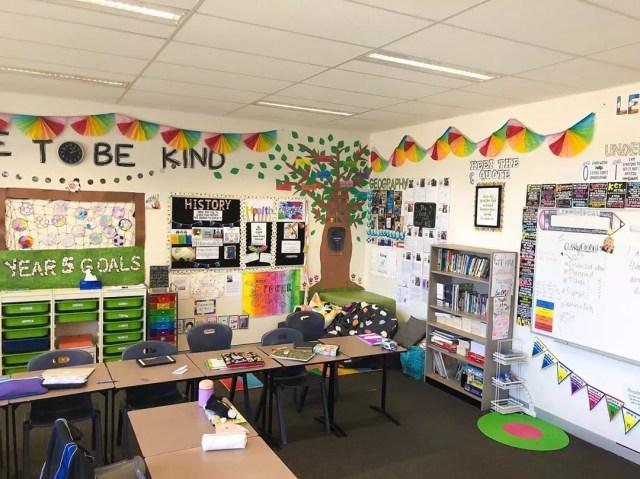 School classroom. Photo by Instagram user @mrsbyear5