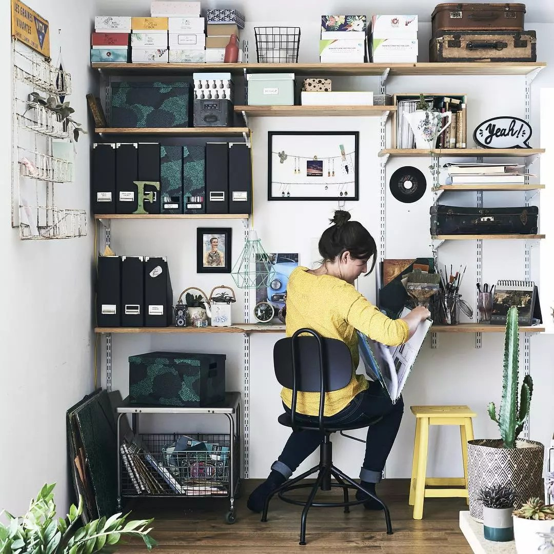 Woman working in home office. Photo by Instagram user @ikeafamilymag
