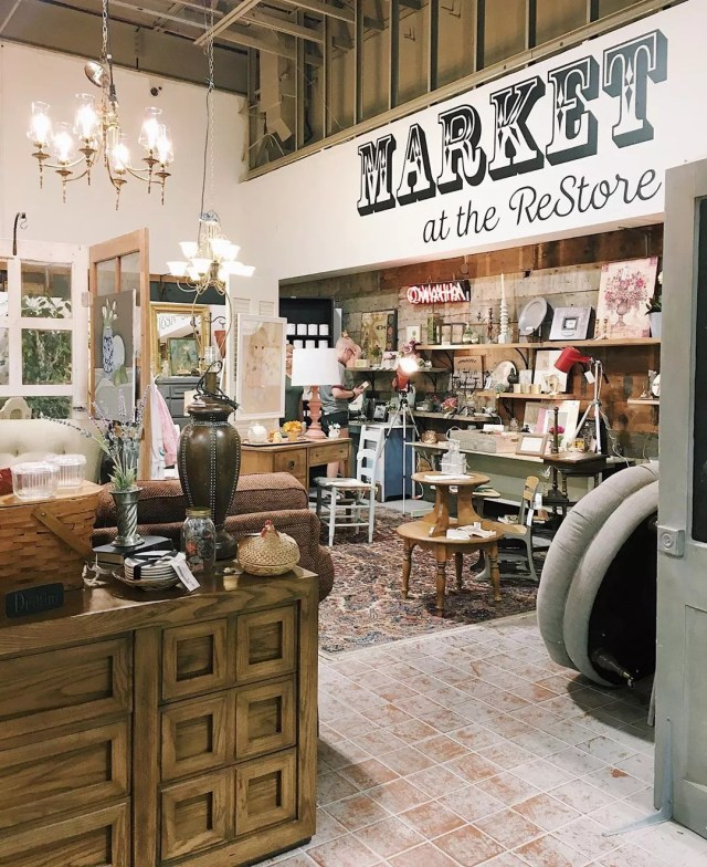 Market at the ReStore at Omaha Habitat for Humanity Restore. Photo by Instagram user @habitatomaharestore