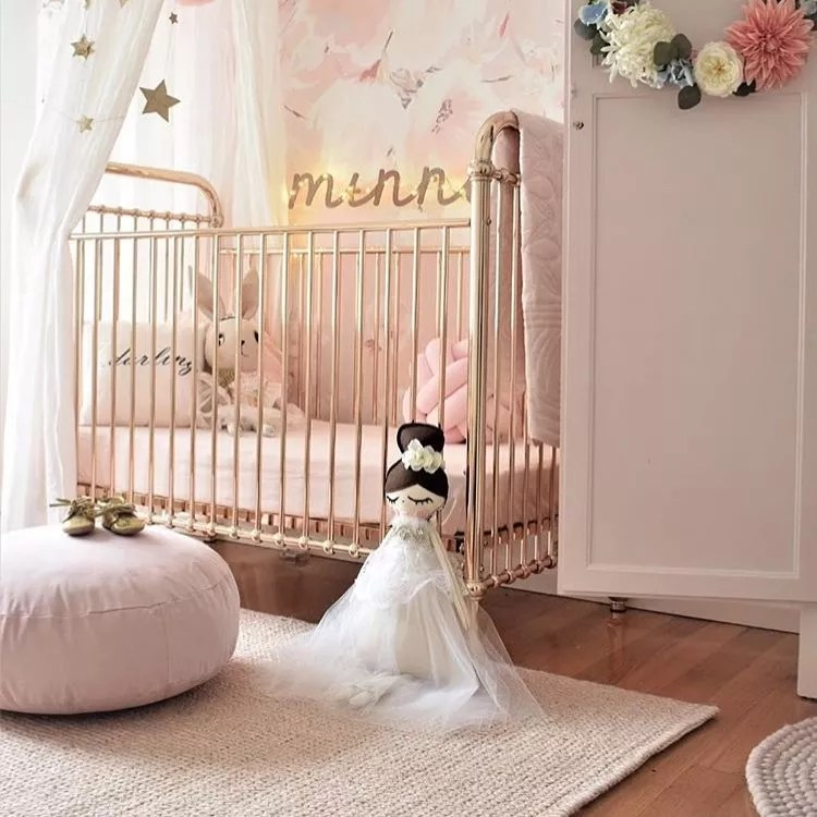 High-Sided Crib with Childrens Doll. Photo by Instagram user @i_said_so_kids