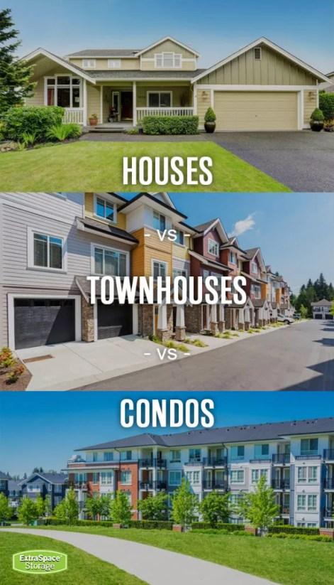 houses vs townhouses vs condos pinterest