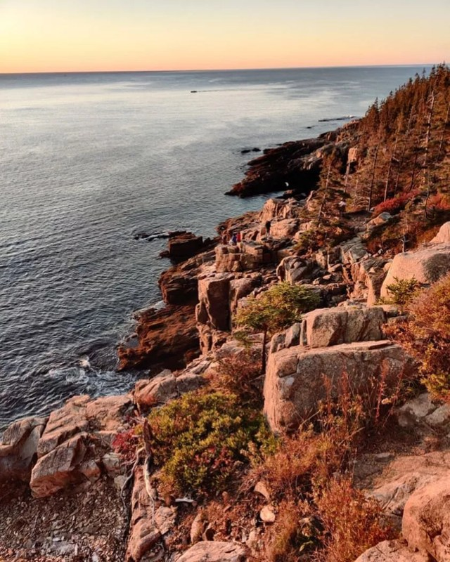 Sunset View Atop the Cliffs at Bar Harbor. Photo by Instagram user @visitbarharbor