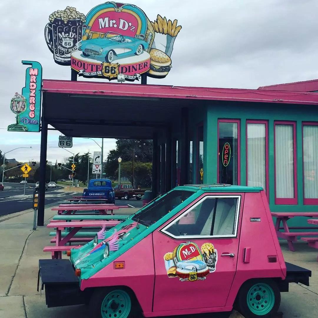 Mr. D'z Route 66 Diner in Kingman, AZ. Photo by Instagram user @hootsntootstakeamerica