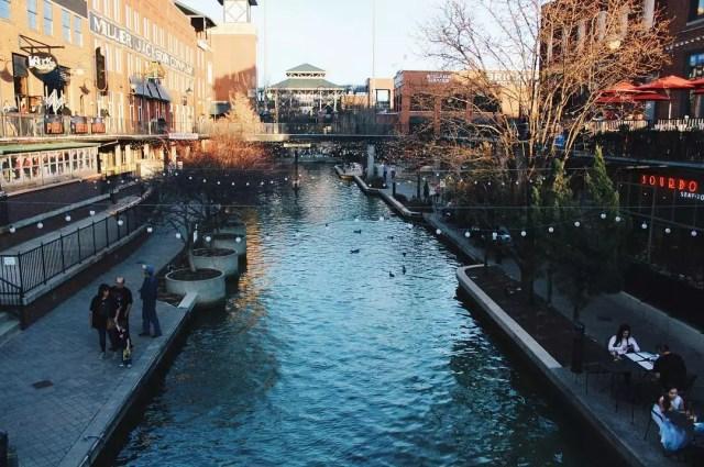 River Running Through Bricktown in Oklahoma City. Photo by Instagram user @bricktown