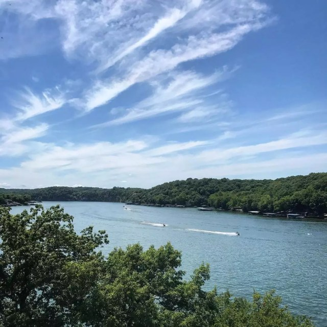 Jetskis Racing on the Lake of the Ozarks. Photo by Instagram user @funlakemo