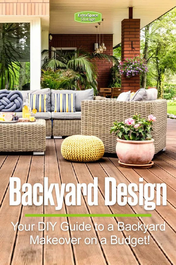 24 Cheap Backyard Makeover Ideas You'll Love | Extra Space ... on Outdoor Living Space Ideas On A Budget id=67093