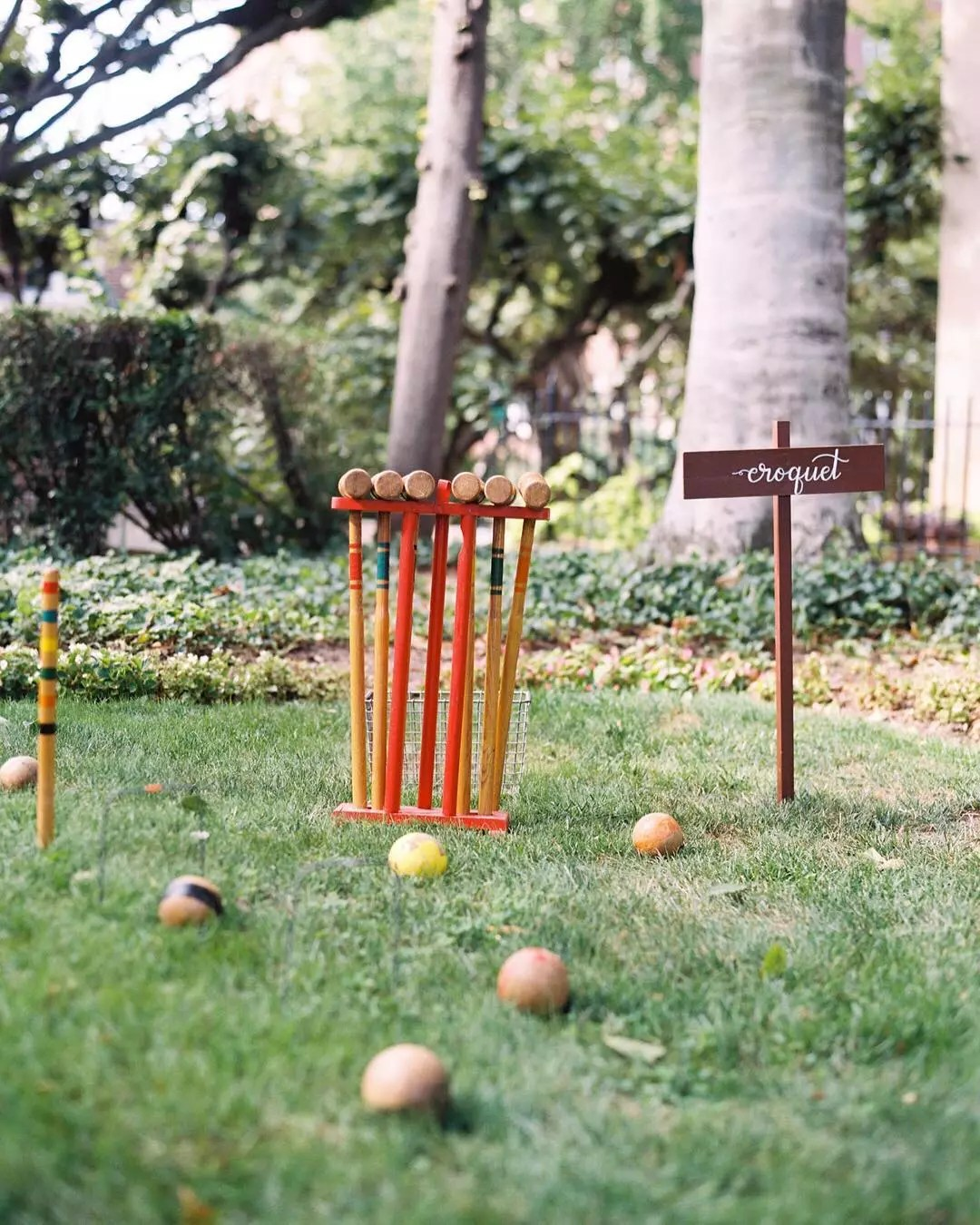 Croquet in backyard. Photo by Instagram user @laurynprattes