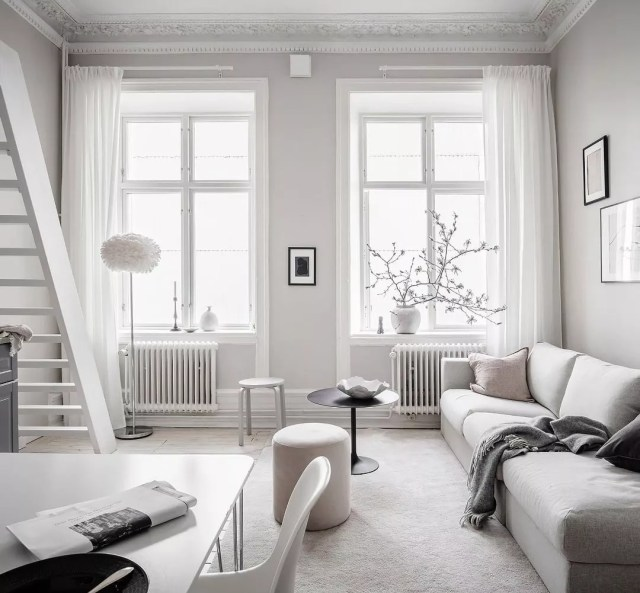 small apartment with lots of natural light and light colors photo by Instagram user @housediaries6