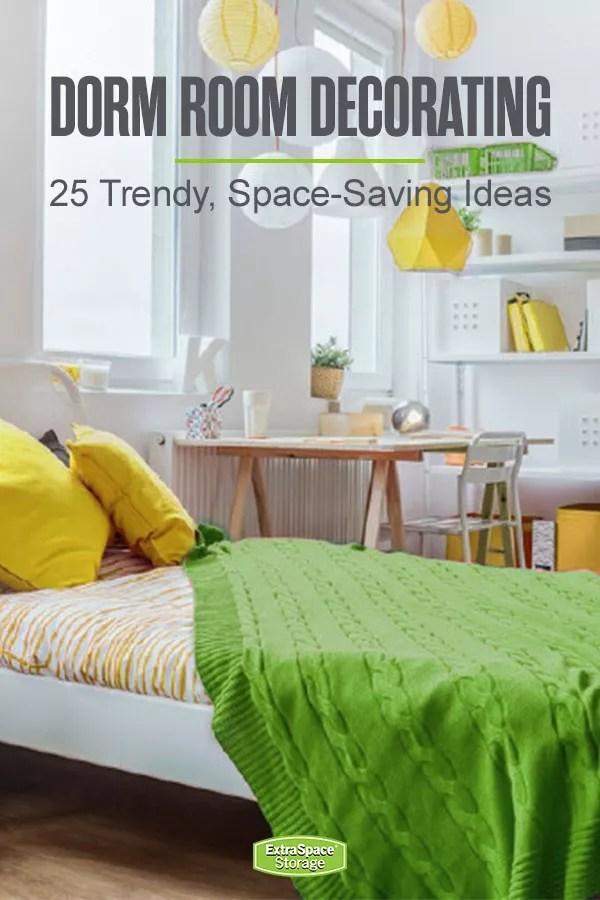 25 Stylish Functional Dorm Room Decor Ideas Extra Space Storage