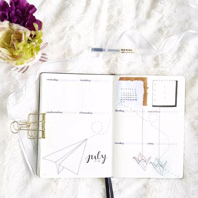 Open College Planner. Photo by Instagram user @serendipity.bujo