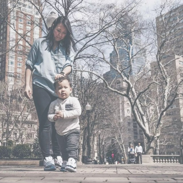 Creator of Hello Brio Jenn Coyle with son. Photo by Instagram user @hello.brio