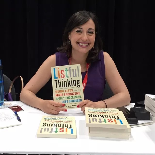 "Paula Rizzo at book signing for ""Listful Thinking."" Photo by Instagram user @listproducer"