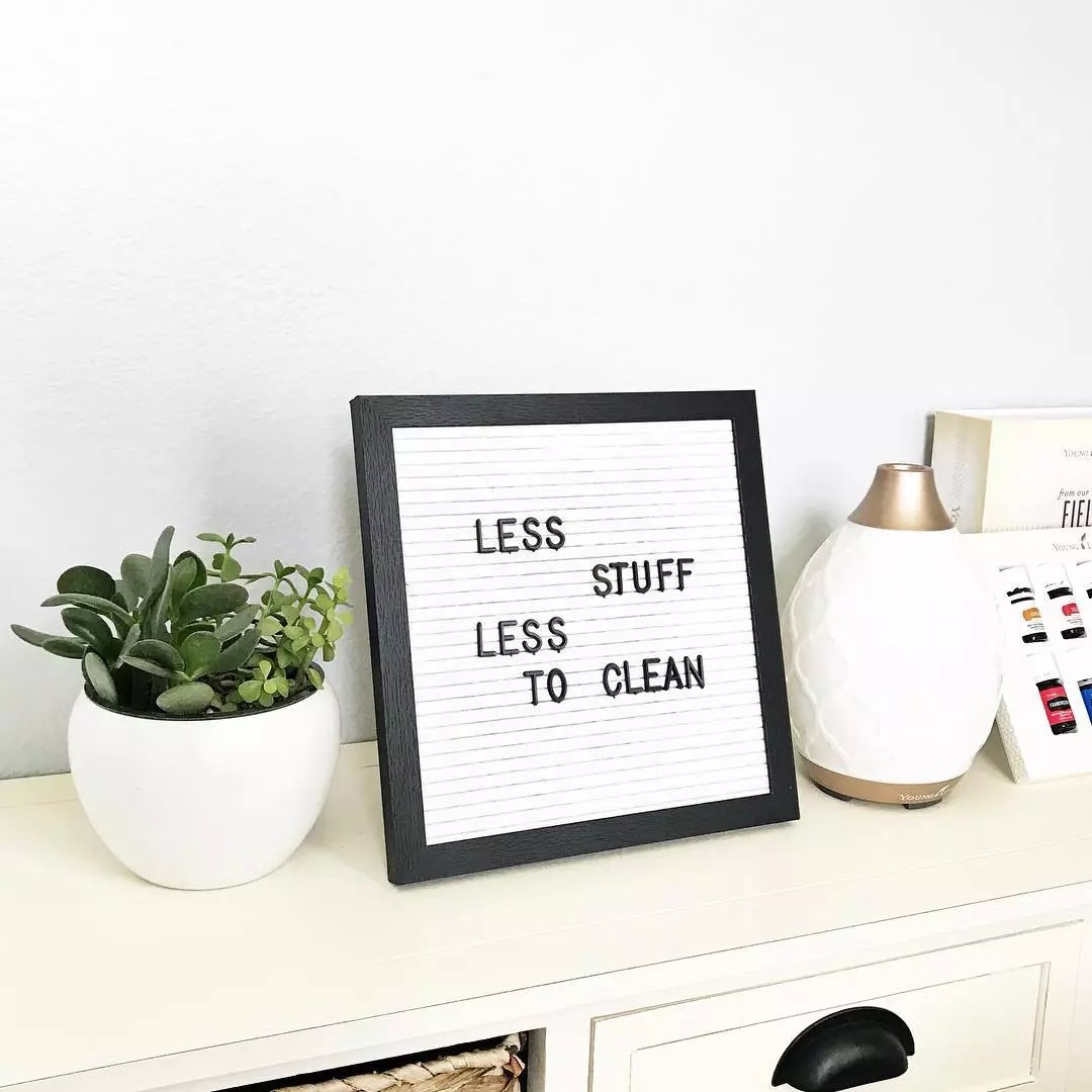 Minimalist quote board. Photo by Instagram user @dontmesswithmama