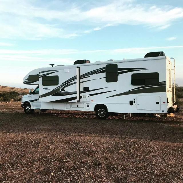 RV on the road. Photo by Instagram user @ourwanderlustfamily
