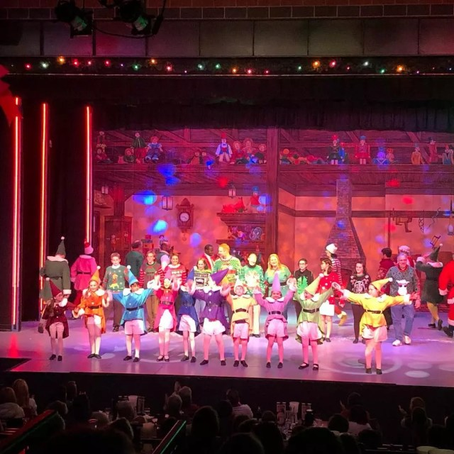 Local Production of Elf the Musical at Community Playhouse. Photo by Instagram user @topekacivictheatre