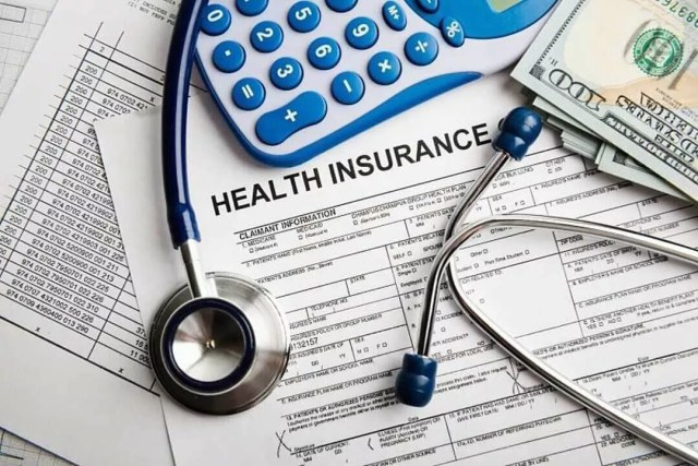 Health Insurance Forms, Stethoscope, and Calculator. Photo by Instagram user @buythismore14