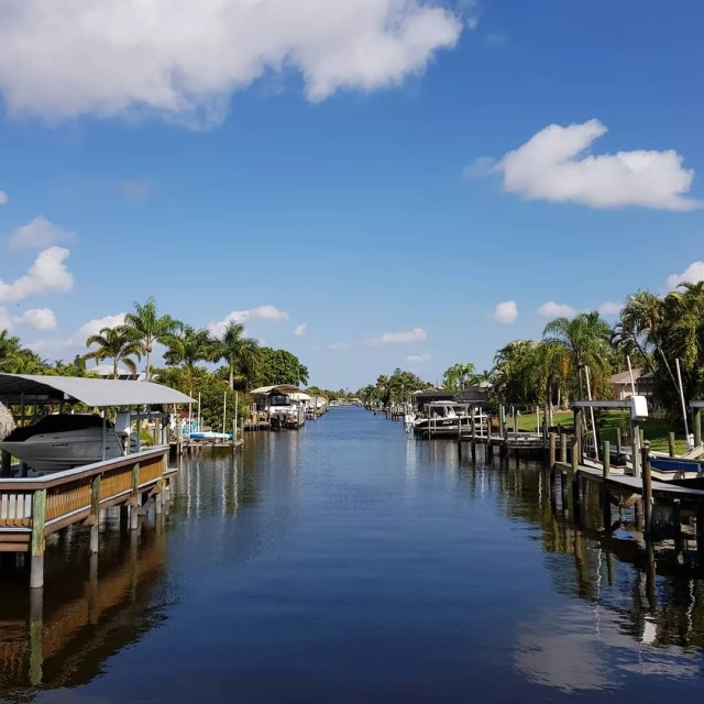 Residential waterway in Cape Coral Photo by Instagram User @johanhellstrom77