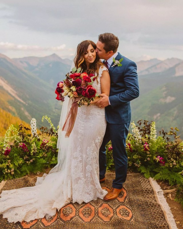 Bride and Groom Preparing to Marry in Aspen. Photo by Instagram user @oliviamarkle