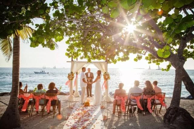 Intimate Beach Wedding in the Florida Keys. Photo by Instagram user @livingwaterimages