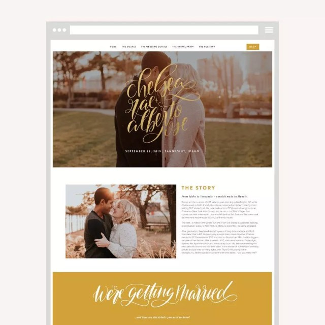 Wedding Website with Couple's Story. Photo by Instagram user @23and9creative