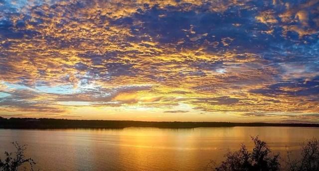 Sunset at Belton Lake
