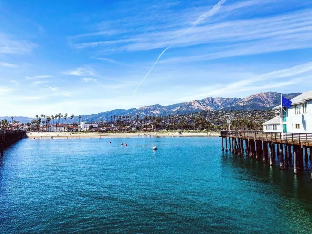 Skyline of water next to mountains. Photo by Instagram user @s_conte