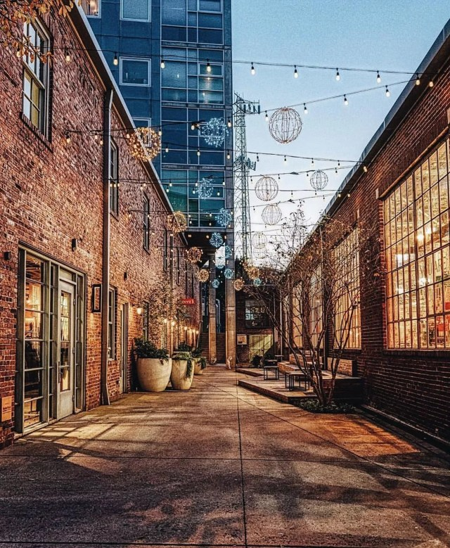 Street view of the The Gulch business district in Nashville, TN. Photo from Instagram user @thegulchnashville.