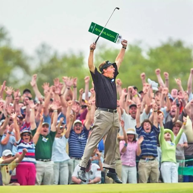 Crowd cheering for golfer Phil Mickelson at the Phoenix Open. Photo by Instagram user @wmphoenixopen
