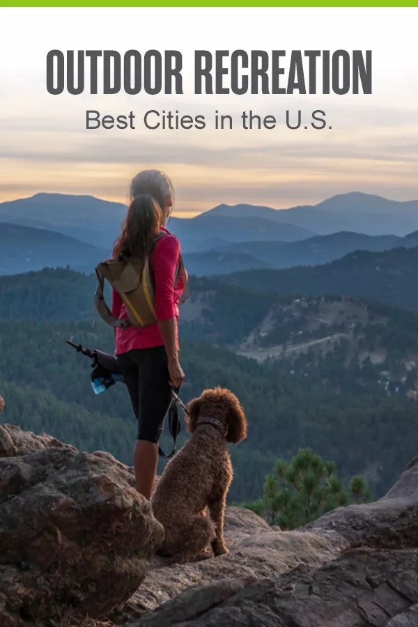 Pinterest Graphic: Outdoor Recreation, the Best Cities in the U.S.