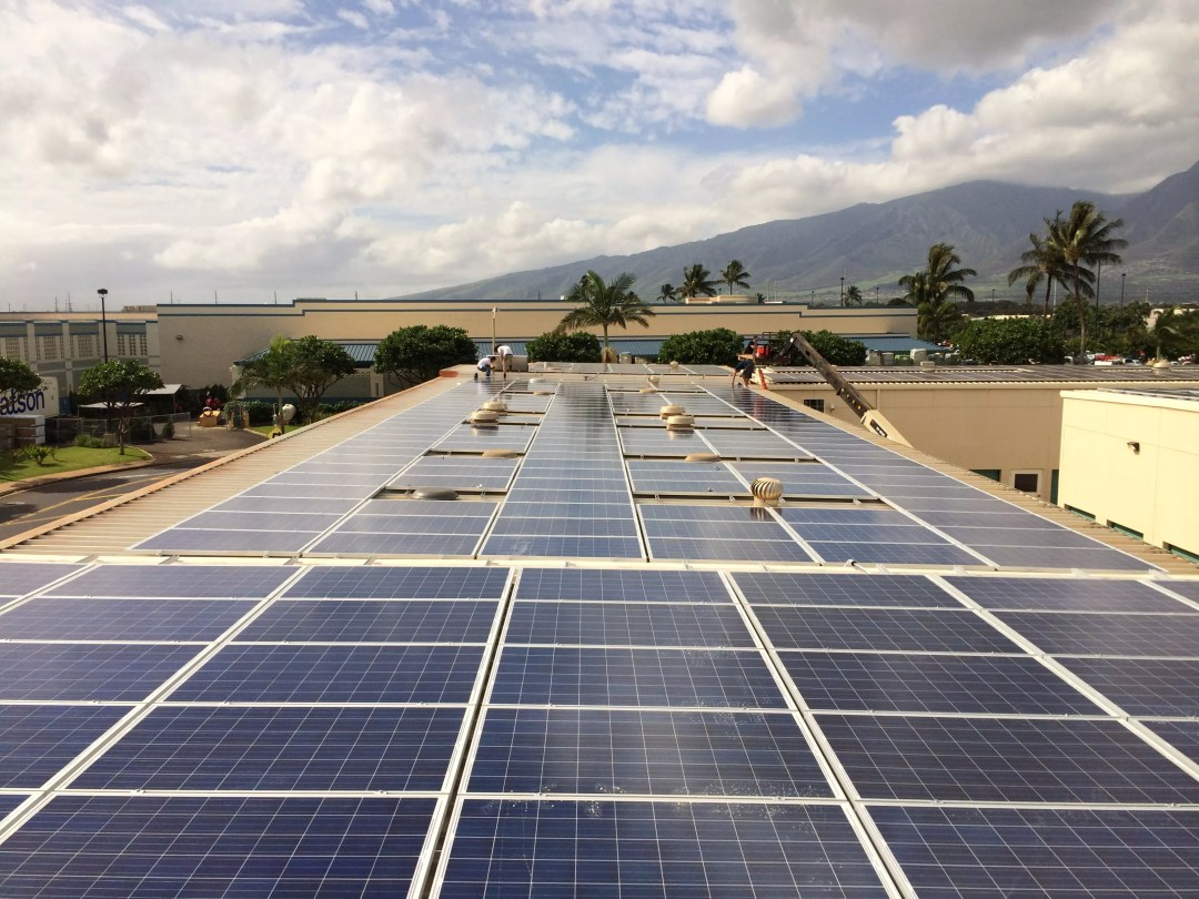 Solar panels on Extra Space Storage self storage facility