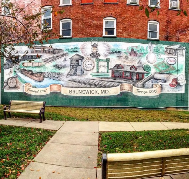 mural on the side of a building in Bruswick, MD photo by Instagram user @jtbjester