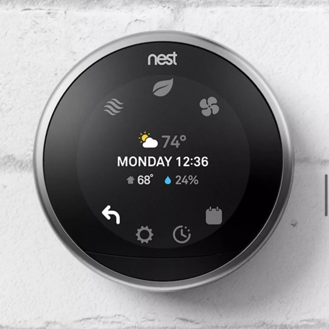 Google nest thermostat. Photo by Instagram user @urbonorlando