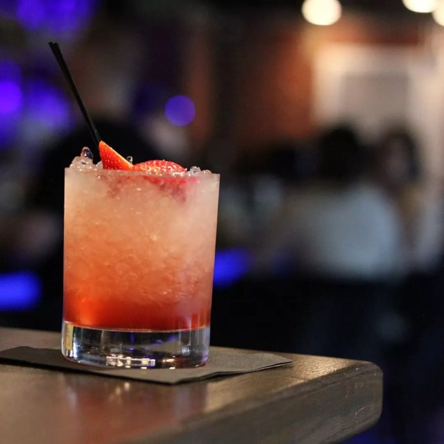 strawberry cocktail from Still & Stir in Worcester, MA photo by Instagram user @stillandstir