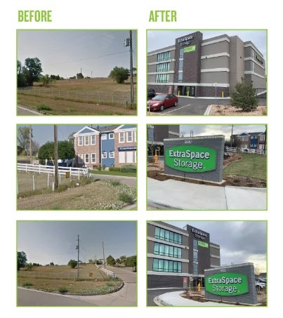 Before and After Photos: Extra Space Storage Westminster, CO Storage Facility: Expansion Project