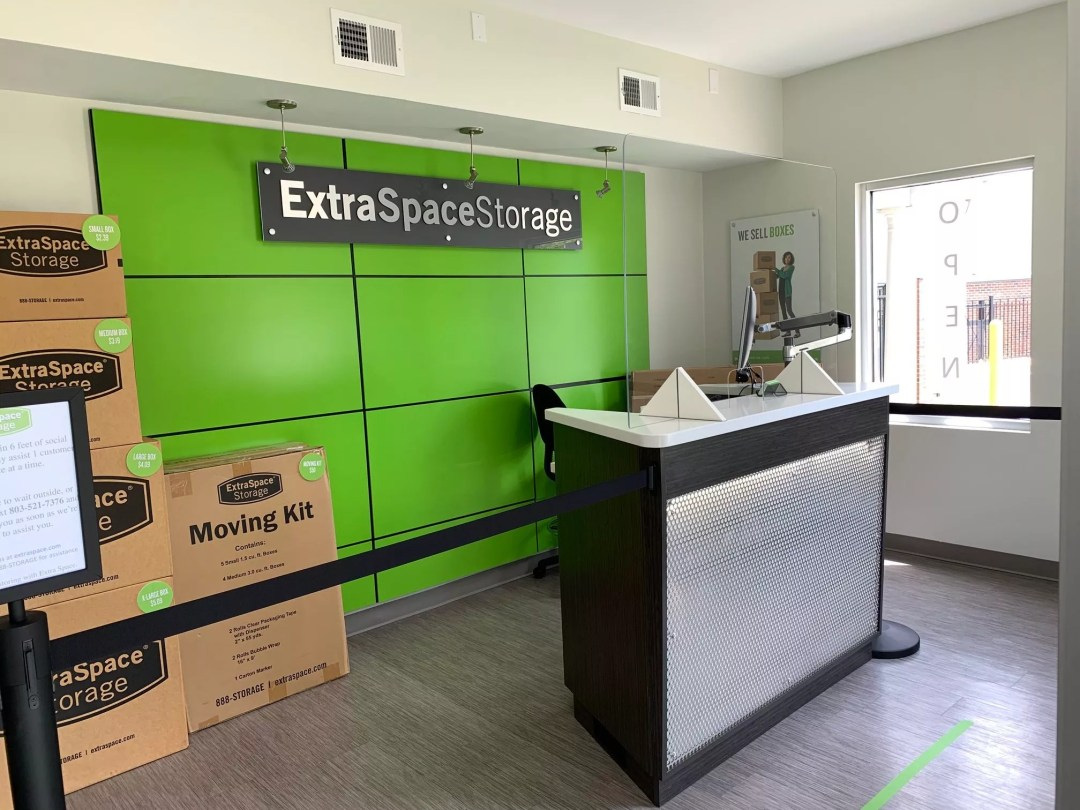 front office of an Extra Space Storage facility