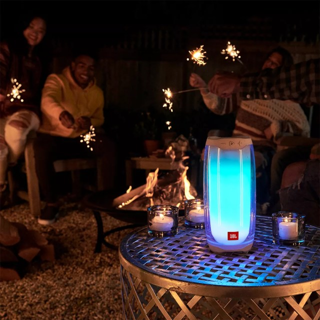 Light Up JBL Speaker Playing Music for a Group of People. Photo by Instagram user @brosdeals