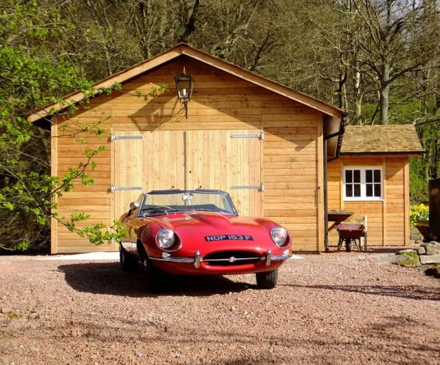 Classic Car Sitting Outside of a Dedicated Car Shed. Photo by Instagram user @bswtimber