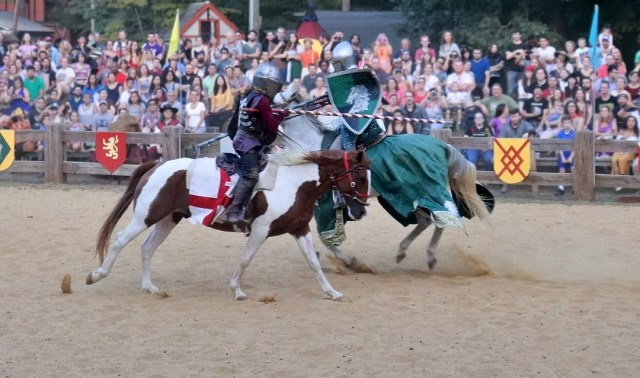 Knights Jousting at the Annapolis Renn Faire. Photo by Instagram User @delore753