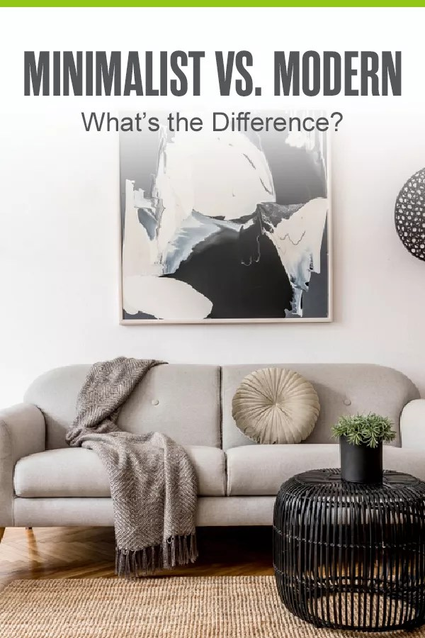 Pinterest Graphic: Minimalist vs. Modern: What's the Difference?
