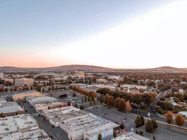 Aerial View of Downtown Richland, WA. Photo by Instagram user @addie.beee