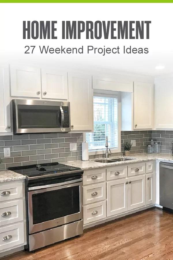 Pinterest Image: Home Improvement: 27 Weekend Project Ideas